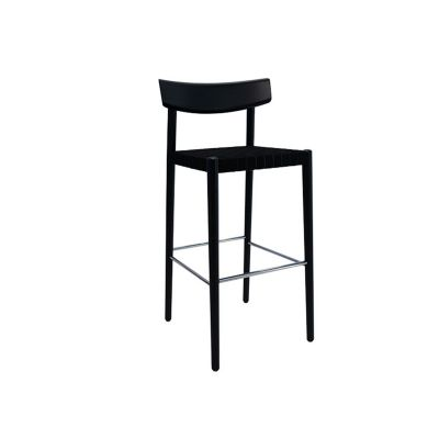 SMART BAR STOOL W. WOVEN BAND SEAT