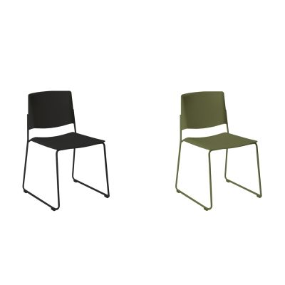 EMA CHAIR WITH SLED BASE
