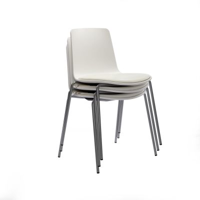 LOTTUS 4-LEG CHAIR WITH CHROME BASE