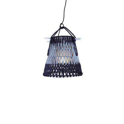 KNOTTEE SUSPENSION LAMP IN DARK BLUE