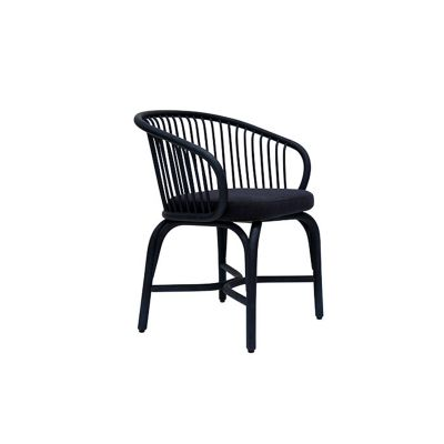 HUMA ARMCHAIR WITH RATTAN LEGS