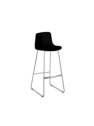 LOTTUS SLED BAR STOOL WITH CHROME BASE